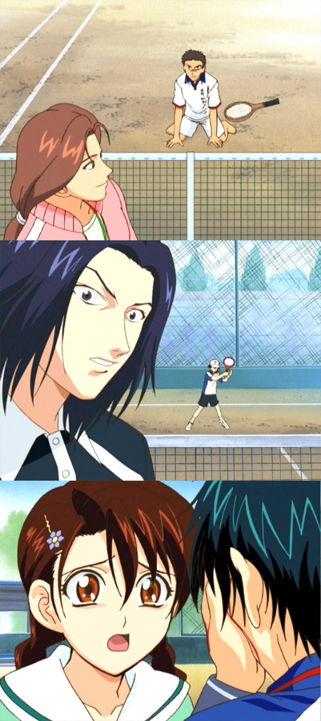 Episodes Nineteen And Twenty Finish Off The Ryoma Shinji Match As Beats Down On Court Shinjis Attacks Have Found A Way To Temporarily